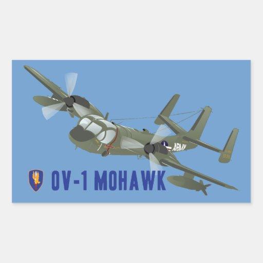 Vietnam Veteran Mohawk Rectangular Stickers