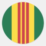Vietnam Veteran Round Stickers