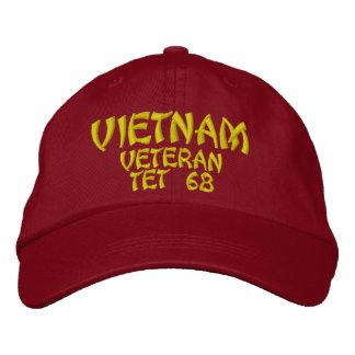 VIETNAM VETERAN TET 68 EMBROIDERED CAP