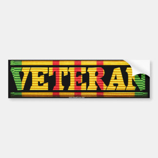 Vietnam Veteran VSM Ribbon Bumper Sticker