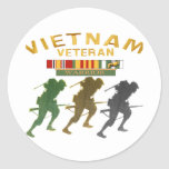 Vietnam Veteran Warrior cards, posters, paper item Sticker