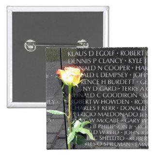vietnam veterans memorial 15 cm square badge