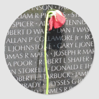 vietnam veterans memorial classic round sticker