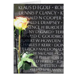 vietnam veterans memorial greeting card