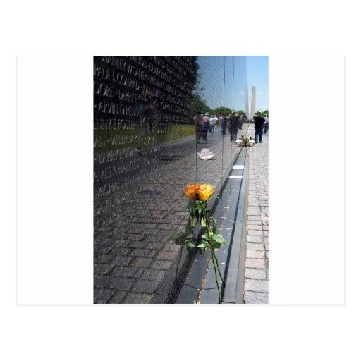 vietnam veterans memorial post card