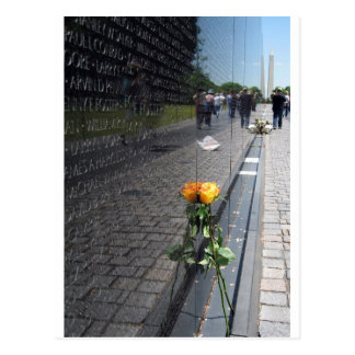 vietnam veterans memorial postcard