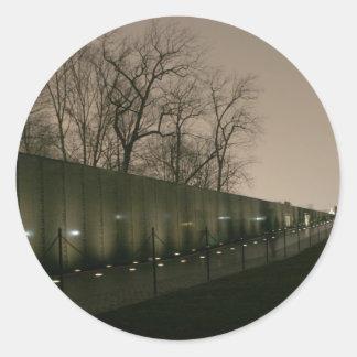 Vietnam Veterans Memorial Round Sticker