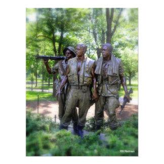 Vietnam Veterans Memorial Soldiers Art Photo
