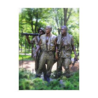 Vietnam Veterans Memorial Soldiers Canvas Prints