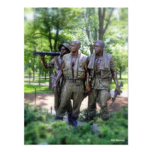 Vietnam Veterans Memorial Soldiers Photograph
