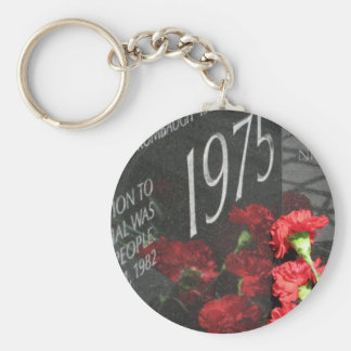 Vietnam Veterans Memorial Wall flower Basic Round Button Key Ring
