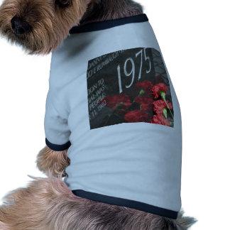 Vietnam Veterans Memorial Wall flower Pet Shirt