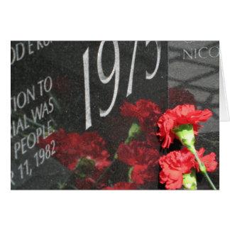 Vietnam Veterans Memorial Wall flower Greeting Card