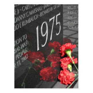 Vietnam Veterans Memorial Wall flower Postcard