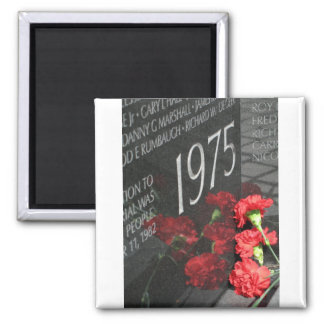 Vietnam Veterans Memorial Wall flower Square Magnet