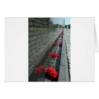 Vietnam veterans Memorial Wall Greeting Card
