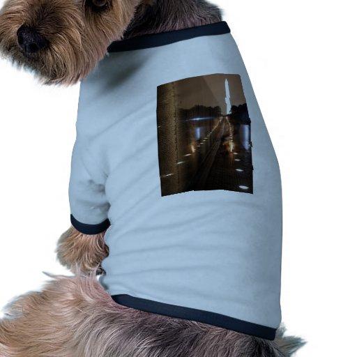 Vietnam Veterans Memorial Wall Photo Dog Tshirt