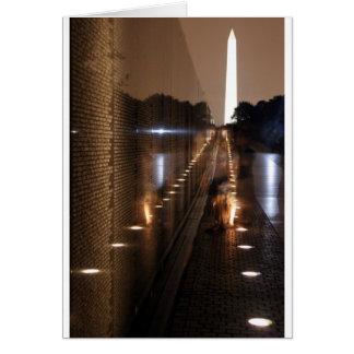 Vietnam Veterans Memorial Wall Photo Greeting Card