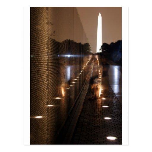 Vietnam Veterans Memorial Wall Photo Postcard