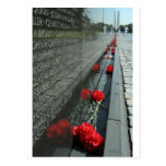 Vietnam veterans Memorial Wall Postcard