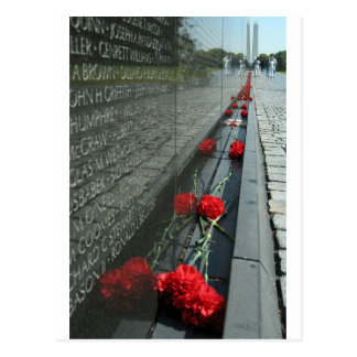 Vietnam veterans Memorial Wall Postcard