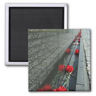 Vietnam veterans Memorial Wall Square Magnet