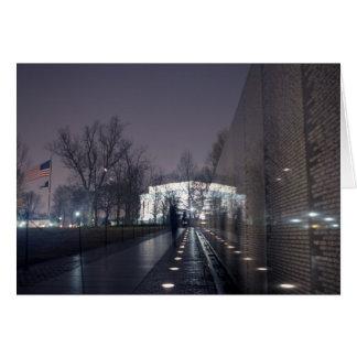 Vietnam Veterans Memorial with Lincoln Memorial Greeting Card