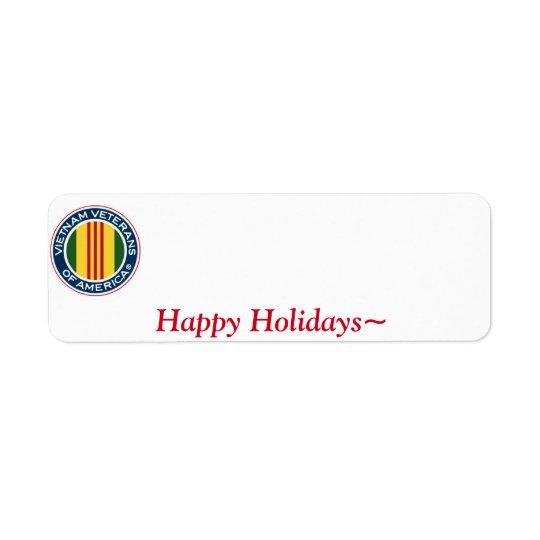 Vietnam Veterans of America Holiday Label #1 Return Address Label
