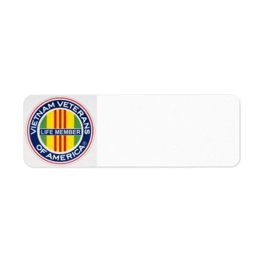 Vietnam Veterans of America Life Member Labels