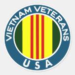 Vietnam Veterans of the USA Round Stickers