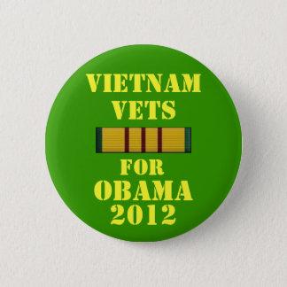 Vietnam Vets for Obama 2012 6 Cm Round Badge