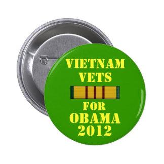 Vietnam Vets for Obama 2012 Pin