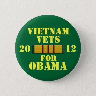 Vietnam Vets for Obama 6 Cm Round Badge