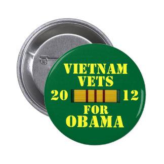 Vietnam Vets for Obama Pins