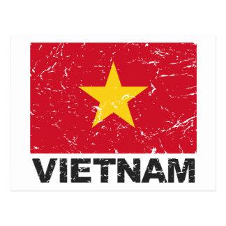 Vietnam Vintage Flag Postcard