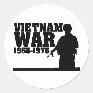 Vietnam War 1955-1975 Classic Round Sticker