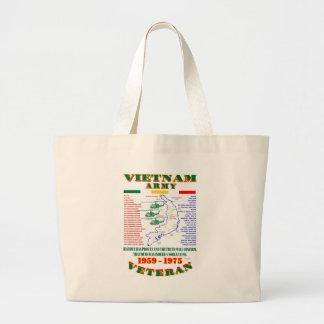 VIETNAM WAR AMERICAN ARMY VETERAN TOTE BAGS