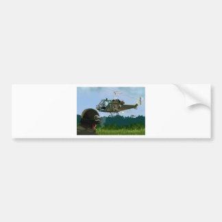 Vietnam War Bell Huey. Bumper Sticker