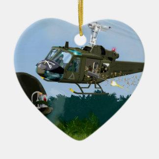 Vietnam War Bell Huey. Ceramic Heart Decoration