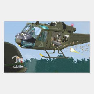 Vietnam War Bell Huey. Rectangular Sticker