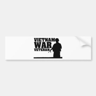 Vietnam War Veteran Car Bumper Sticker