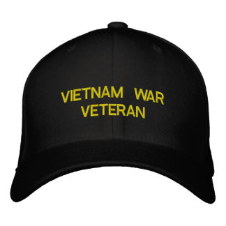 VIETNAM WAR VETERAN EMBROIDERED CAP