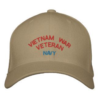 VIETNAM WAR VETERAN NAVY EMBROIDERED BASEBALL CAPS