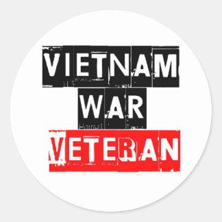 vietnam war veteran round sticker