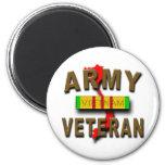 Vietnam War Veteran Service Ribbon, ARMY 6 Cm Round Magnet