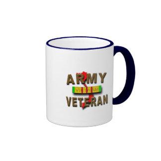 Vietnam War Veteran Service Ribbon ARMY Coffee Mugs