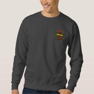 Vietnam War Veteran Service Ribbon, ARMY Pull Over Sweatshirts