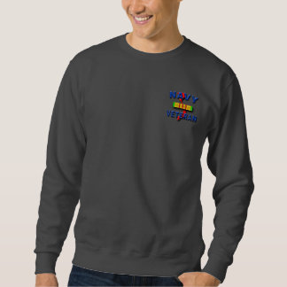 Vietnam War Veteran Service Ribbon, NAVY Sweatshirt