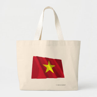 Vietnam Waving Flag Jumbo Tote Bag