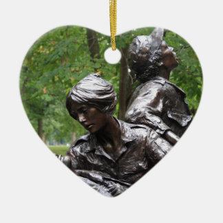 Vietnam Womens Memorial Ceramic Heart Decoration